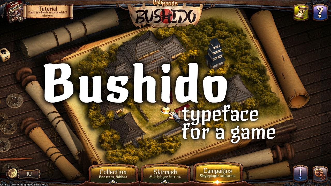 Шрифт для игры Бусидо  Bushido game font
