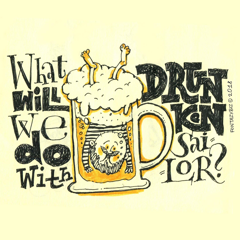 Музцитата:  Drunken sailor
